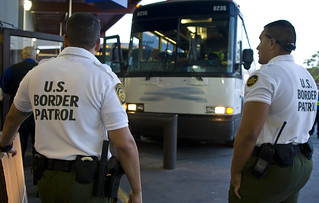 U.S. Customs and Border Protection Agents Check Bus | by CBP Photography