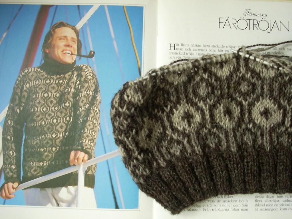 Faroese sweater in progress | Based on a design in \