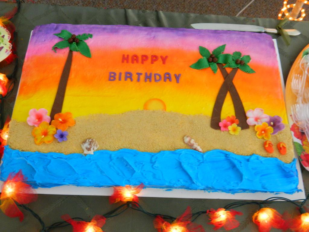Happy Birthday Cake Hawaiian