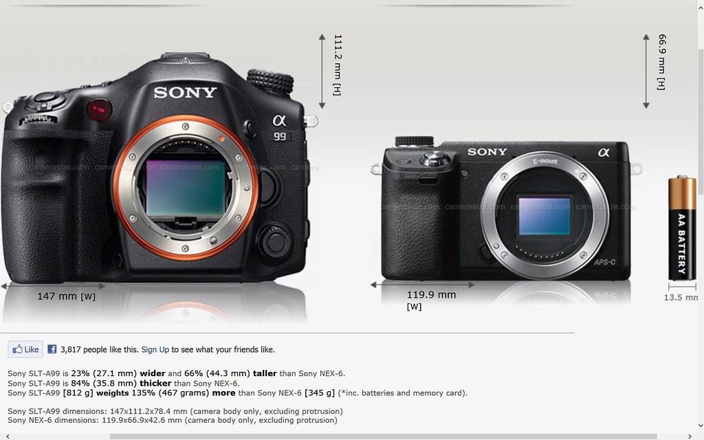 Sony full frame A99 A mount vs NEX 6 E mount | binoviewer | Flickr