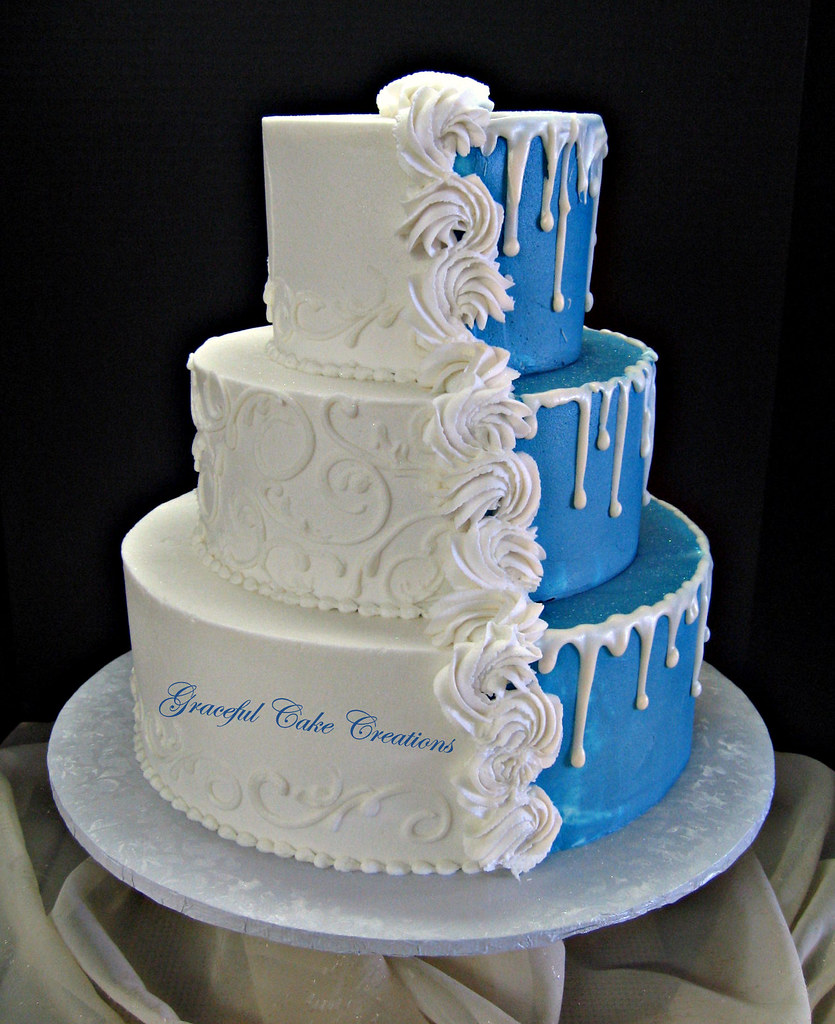 Tier Simple Wedding Cake With Swags