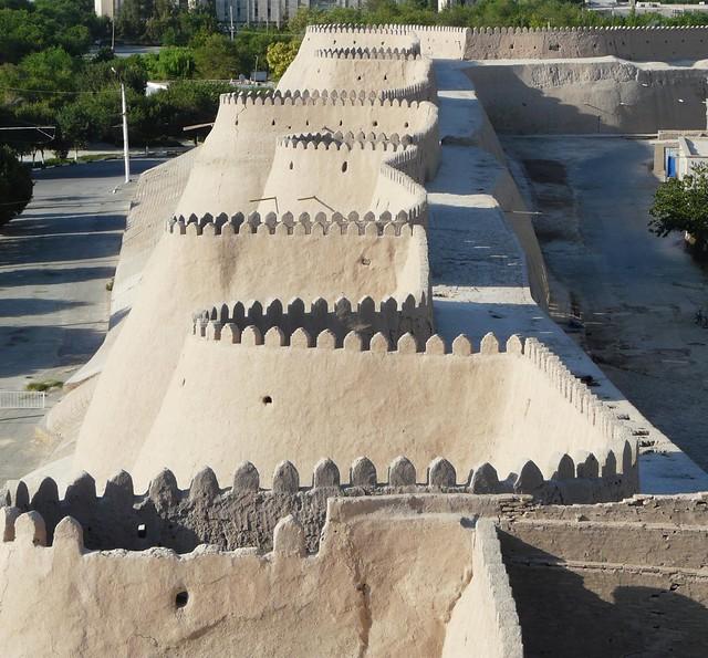 Muralla de Khiva (Jiva) en Uzbekistán