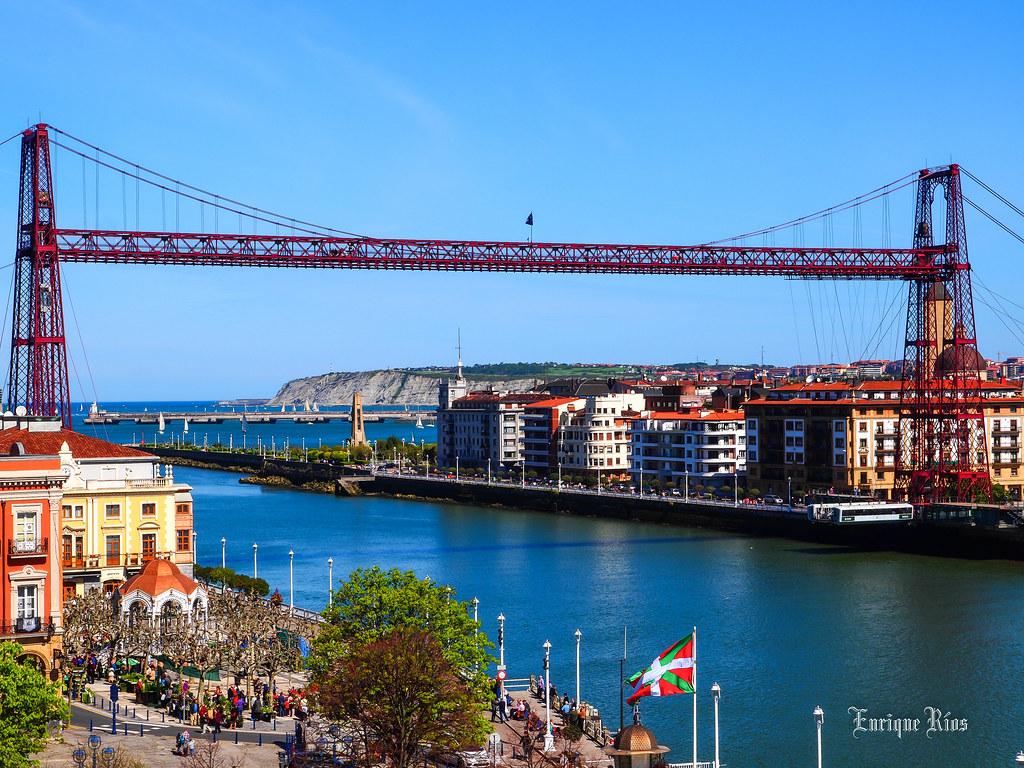 Resultado de imagen de puente colgante portugalete