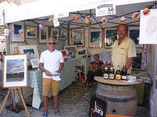 Le stand d'Arlay lors du village des cités de caractère à Orgelet le 14 août 2016