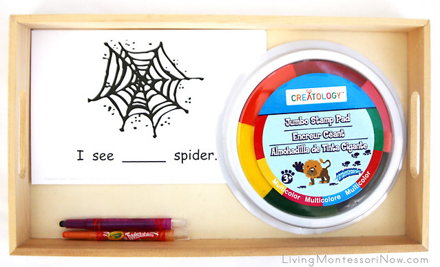 My Spider Counting Book Tray
