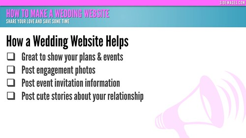 How to Make a Wedding Website - PowerPoint Slide # 03 | by SideWages