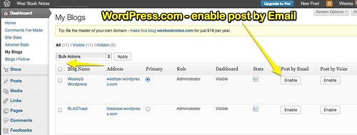 WordPress.com - Enable Post by Email | by Wesley Fryer
