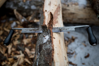 Draw Knife in Tree Bark | by goingslowly