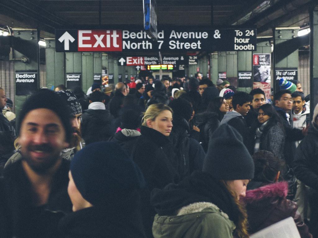 u0026 39 rush hour u0026 39   united states  new york  new york city  brook