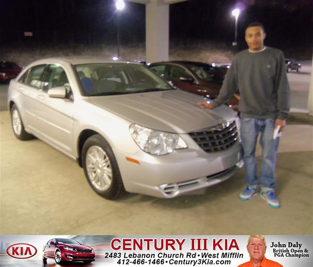 century 3 kia would like to say congratulations to lloyd nelson jr on the 2007 chrysler sebring. Black Bedroom Furniture Sets. Home Design Ideas