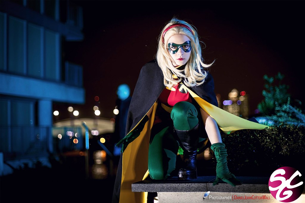 Aigue Marine as Stephanie Brown/Robin | Cosplayer: Aigue ...: https://www.flickr.com/photos/sexycosplaygirls/8634101725