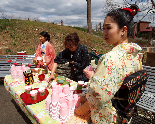 Green tea ceremony 2013 roosevelt island cherry blossom festival
