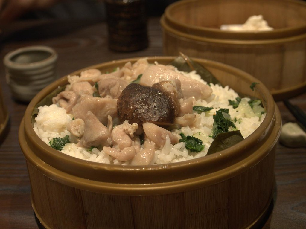 Steamed chicken with mushrooms and rice | The first food sho ...