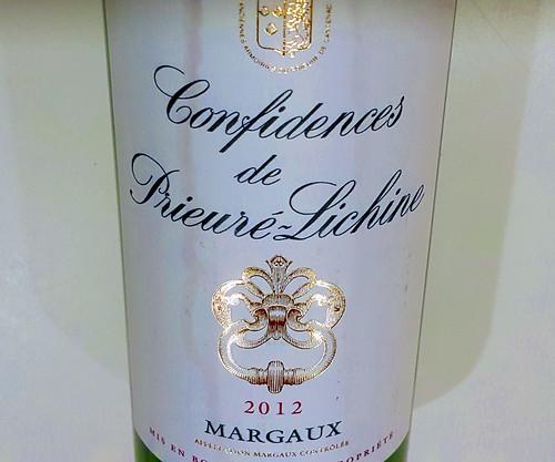 Confidences de Prieure-Lichine Margaux 2012