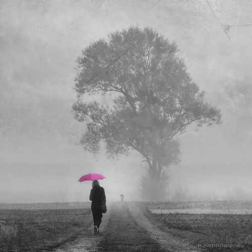 A Pink Umbrella Morning | by h.koppdelaney