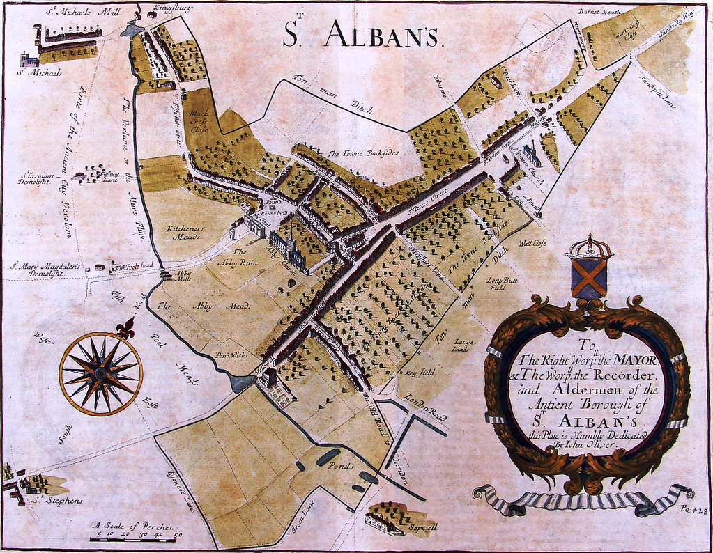 1700 Map of St Albans | John Oliver plan of St Albans, from … | Flickr