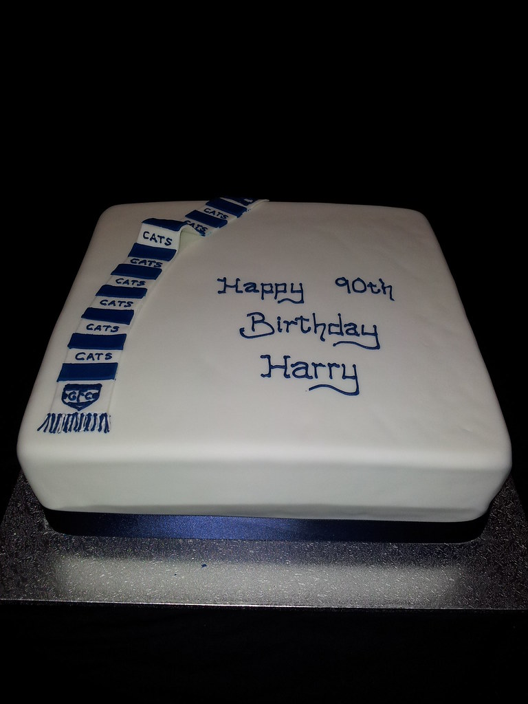 Geelong Cats Birthday Cake Fondant Iced Cake With An Icing Flickr