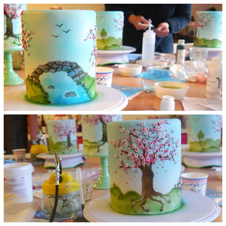 Dummie spring airbrush cake from workshop fromkim for Airbrush for cake decoration