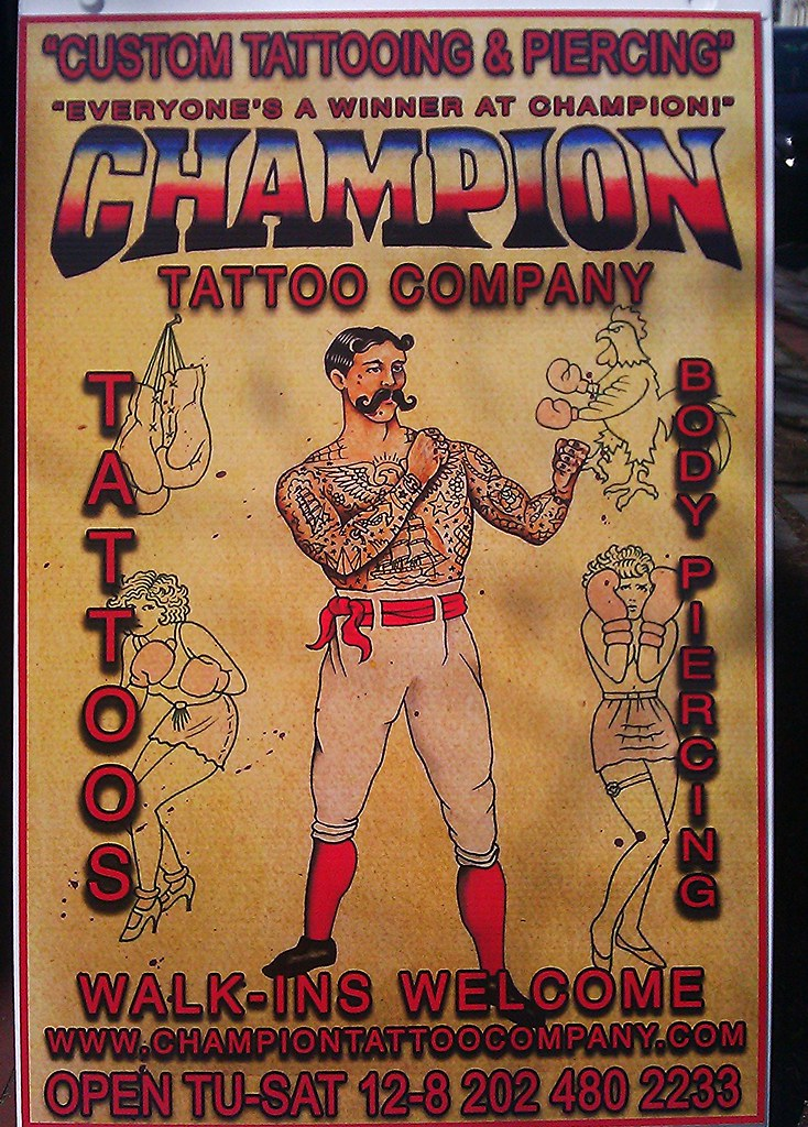 Tattoo parlor sidewalk sign barracks row 719 8th st se for Top 10 tattoo shops in nyc