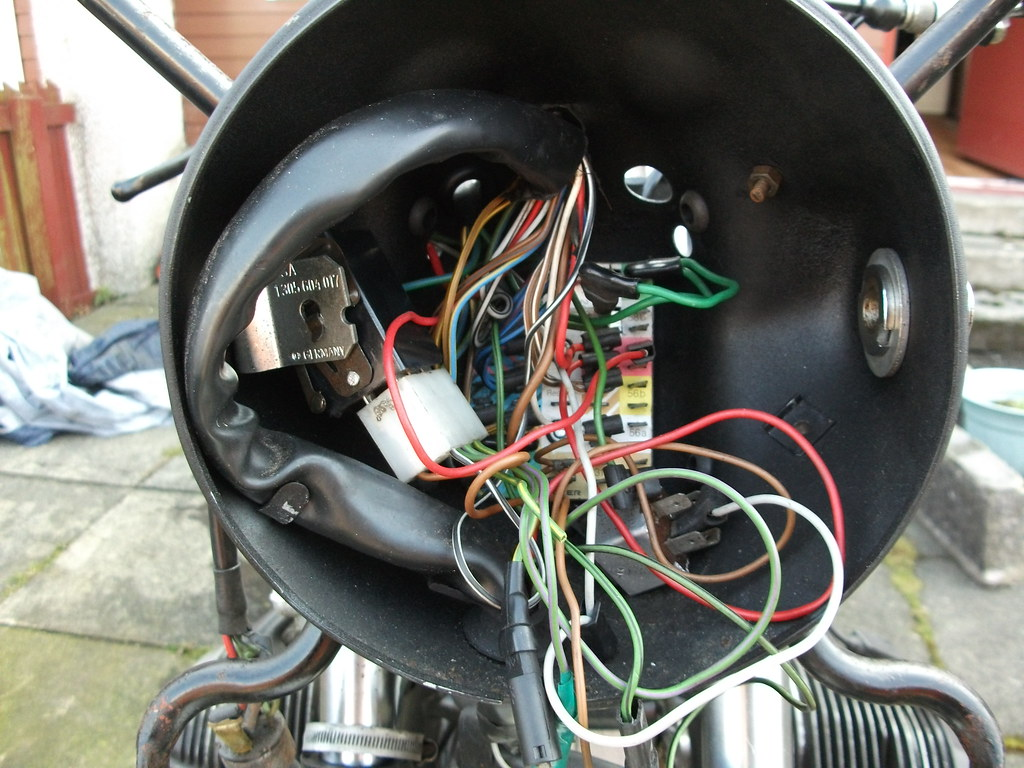 Bmw R80 7 Headlamp Wiring A New Fuse Board Was Fitted Seve Flickr By Ian Beat