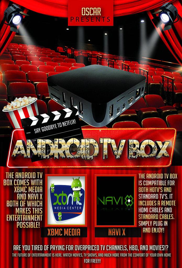 android tv box flyer template