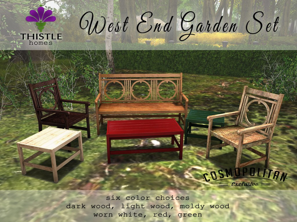 Thistle West End Garden Set Colors | Available @ Cosmopolita… | Flickr