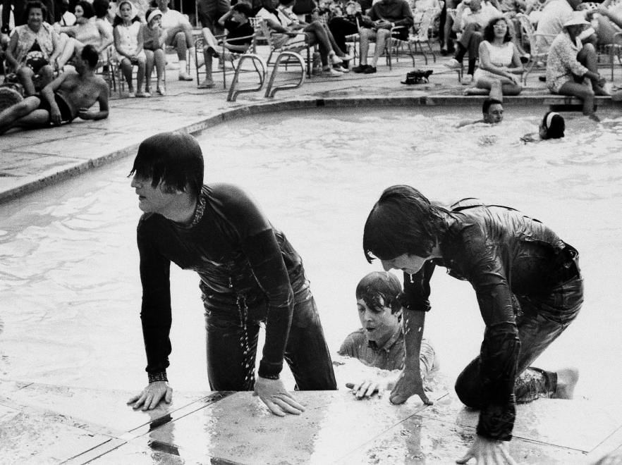 3 Beatles Emerging From Pool Fully Clothed Found On