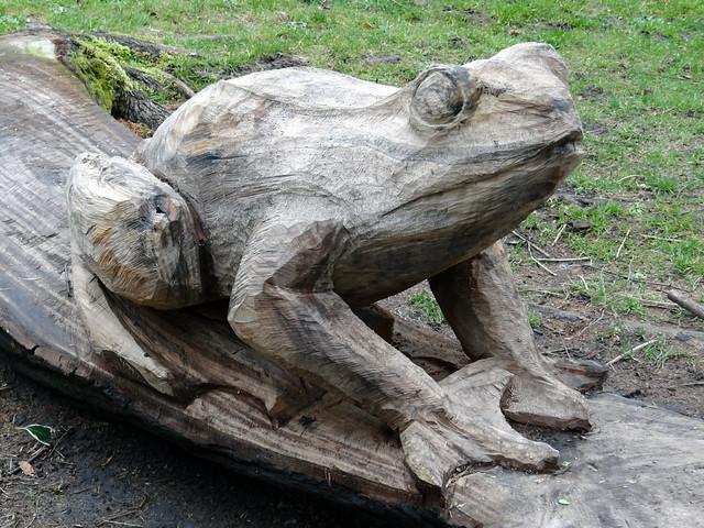 Frog Wood Carving Flickr Photo Sharing