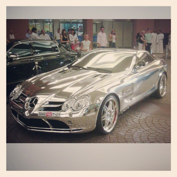 Car made of pure white gold, owned by Abu Dhabi, an oil bi ...