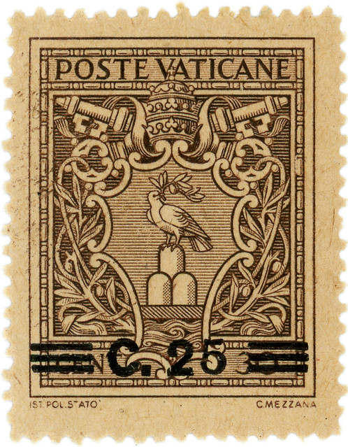 Vatican City Postage Stamp: Arms Of Pope Prius XII