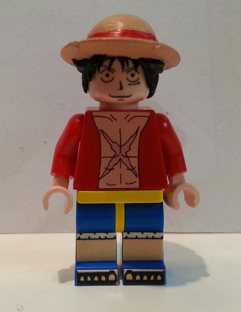 Lego custom One Piece - Luffy (2 yrs time skip) vers.2 ...