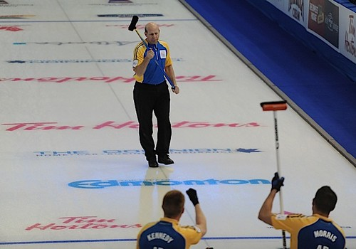Edmonton Ab.Mar8,2013.Tim Hortons Brier.Alberta skip Kevin Martin,third John Morris,second Marc Kennedy,CCA/michael burns photo | by seasonofchampions