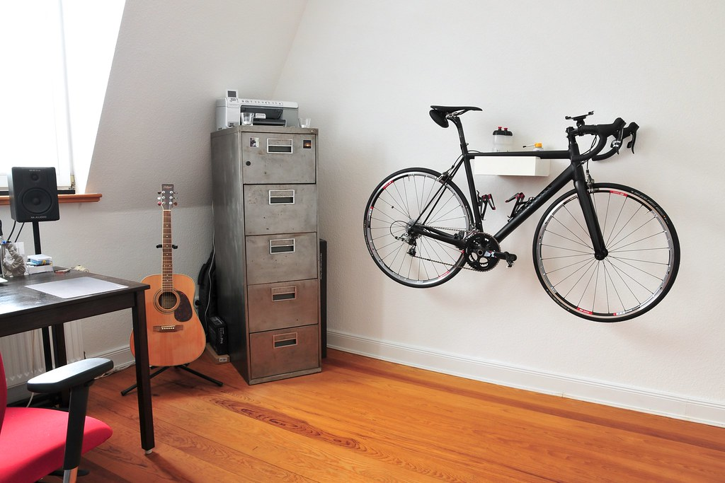 Road Bike Wall Mount Made From An Old Drawer Hendrik