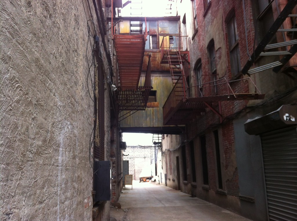 The Alley that goes into the Morbid Anatomy Library   Flickr