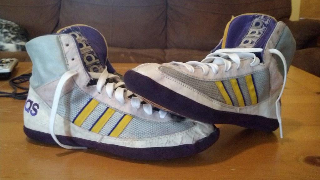 Purple Adidas Wrestling Shoes