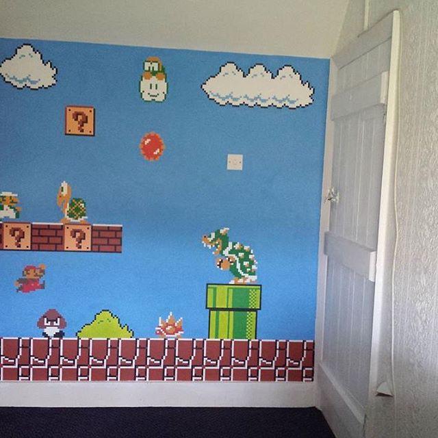Hand painted Super Mario Bros 8bit retro pixel art acrylic…   Flickr