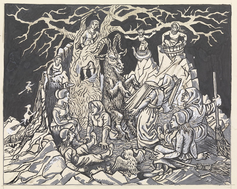 Per Krohg - There they met a hell narrow with troll hags, 1936
