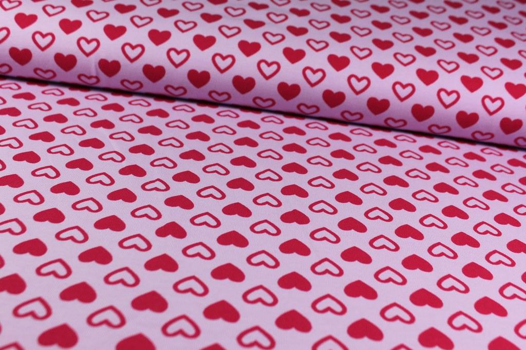 """Baumwoll-Jersey """"Herzen"""", rosa"""