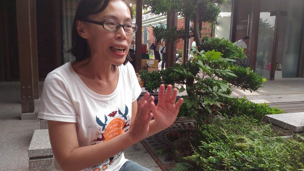 挺挺網絡社會企業發起人劉偉蘋。攝影:林倩如。