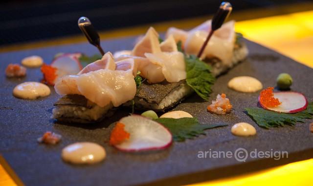 AURA/Fried sushi platter