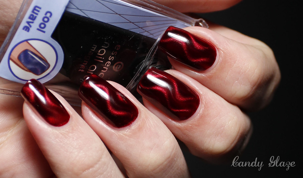 Essence Nail Art Magnet Cool Wave With Nabi Wine | Maki@CandyGlaze ...