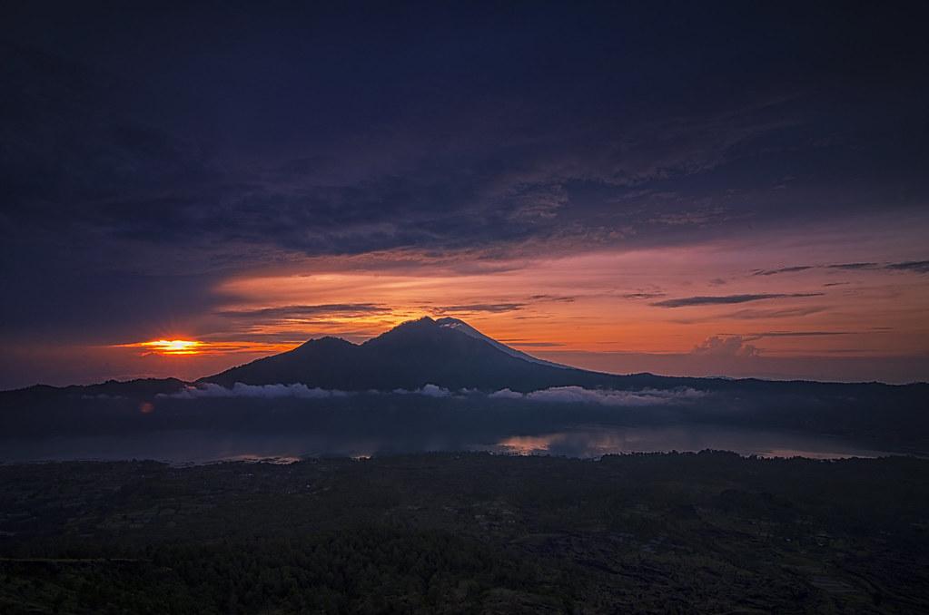 Volcanoes Bali Indonesia Volcano mt Batur Bali