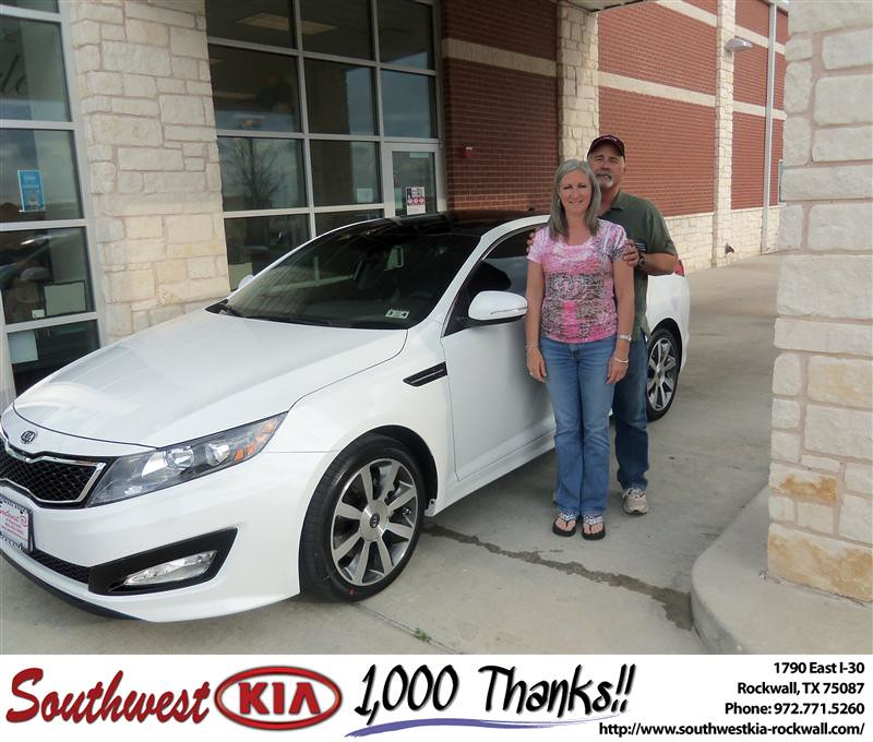 Happy Anniversary To Marvin Withrow On The 2012 Kia Optima