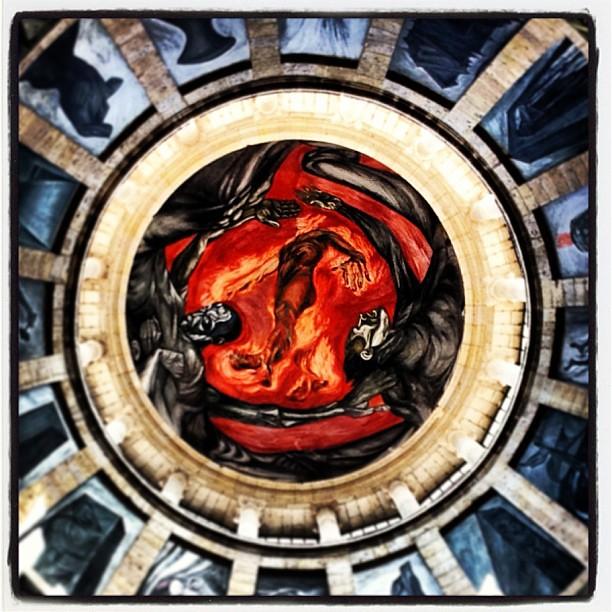 El hombre de fuego jose clemente orozco miguel angel for El hombre de fuego mural de jose clemente orozco