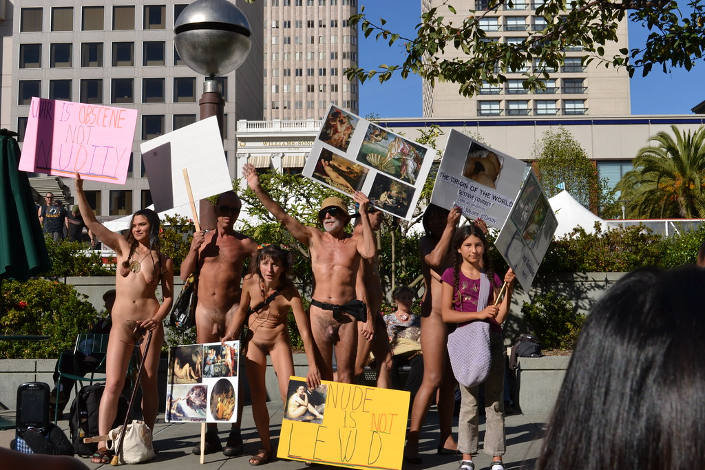 protest nude San francisco
