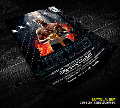MMAUFC Showdown Flyer Template MMAUFC Showdown Flyer – Ufc Flyer Template