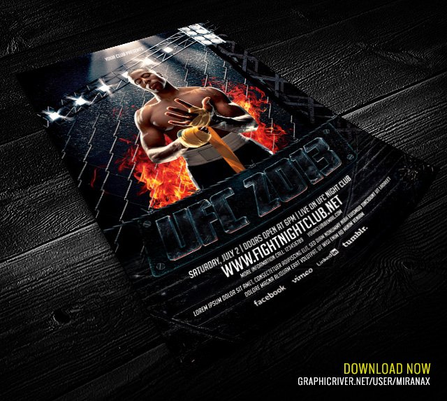 MmaUfc  Showdown Flyer Template  MmaUfc  Showdown Flyer  Flickr