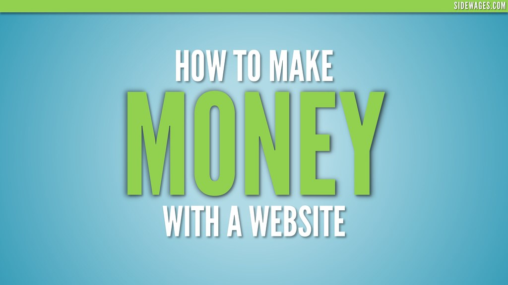 ... How to Make Money With a Website - PowerPoint Slide #01 - by SideWages
