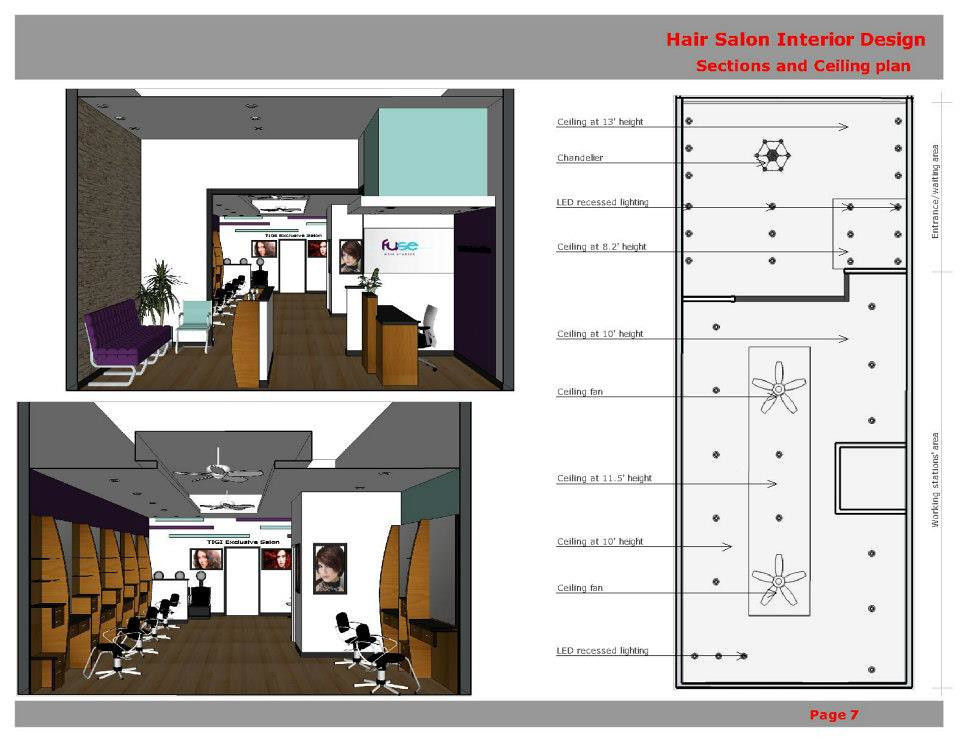 Competition hair salon interior design ga 1st prize for 3d salon floor plans