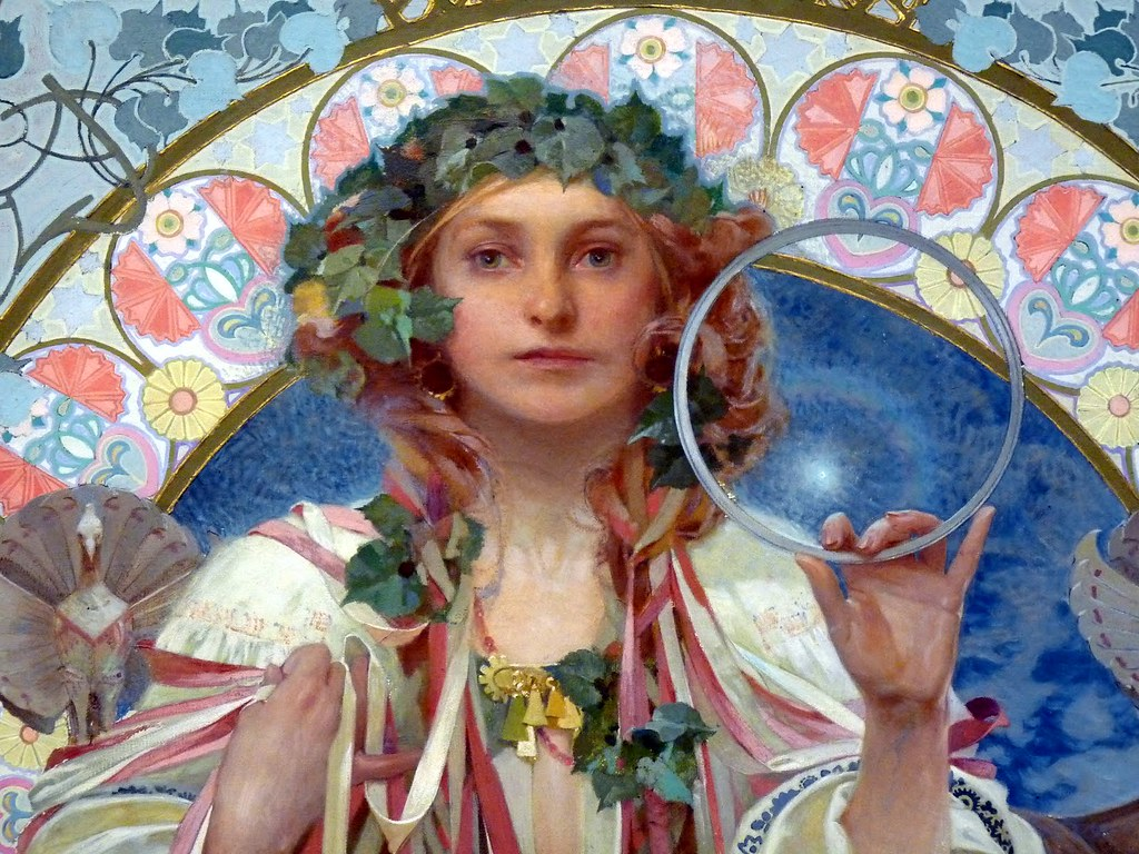 Slavia Gallery: Portrait Of Josephine Crane-Bradley As Slavia, Alfons Much